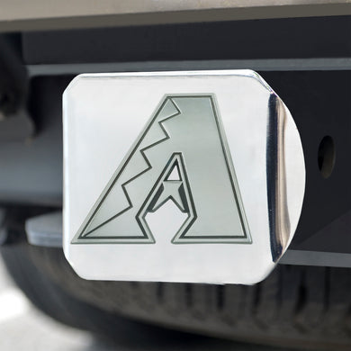 Arizona Diamondbacks Chrome Emblem On Chrome Hitch Cover