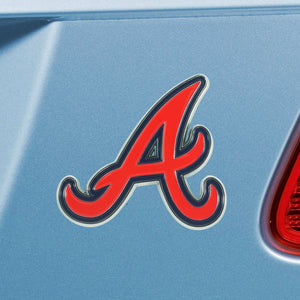Atlanta Braves Color Chrome Auto Emblem