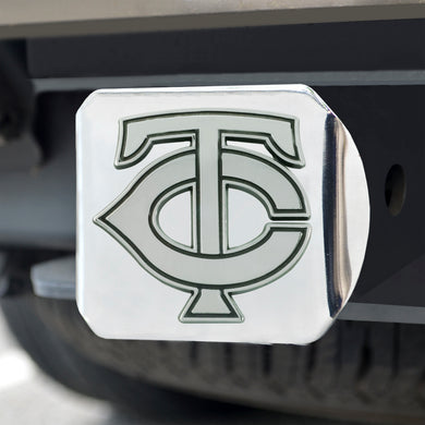 Minnesota Twins Chrome Emblem On Chrome Hitch Cover