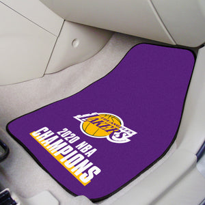 Los Angeles Lakers 2020 NBA Finals Champions 2-pc Carpet Car Mat Set