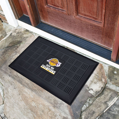 Los Angeles Lakers 2020 NBA Finals Champions Medallion Door Mat 19