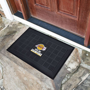 "Los Angeles Lakers 2020 NBA Finals Champions Medallion Door Mat 19""x31"""