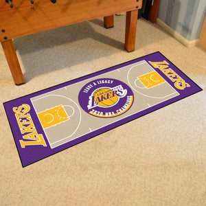 Los Angeles Lakers 2020 Finals Champions Basketball Court Runner