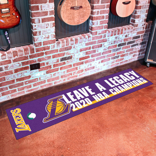 Los Angeles Lakers 2020 NBA Finals Champions Putting Green Runner 18