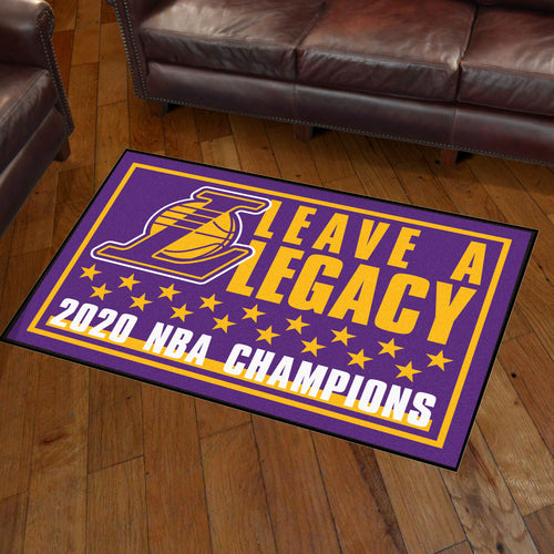 Los Angeles Lakers 2020 Finals Champions Plush Rug - 3'x5'