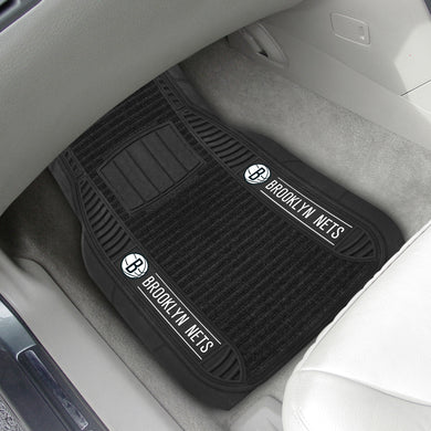 Brooklyn Nets 2-piece Deluxe Car Mat Set 21