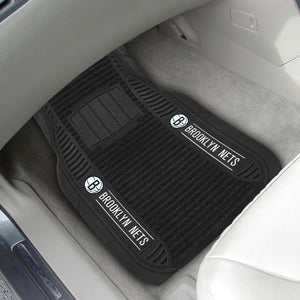 "Brooklyn Nets 2-piece Deluxe Car Mat Set 21""x27"""