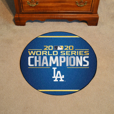 Los Angeles Dodgers 2020 World Series Champions Baseball Mat