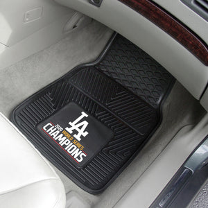 Los Angeles Dodgers 2020 World Series Champions 2-pc Vinyl Car Mat Set