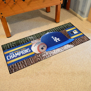 "Los Angeles Dodgers 2020 World Series Champions Runner - 30""x72"""
