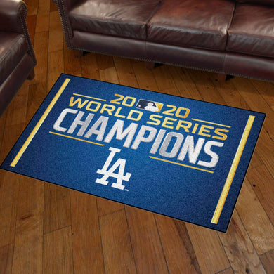 Los Angeles Dodgers 2020 World Series Champions Plush Rug - 3'x5'