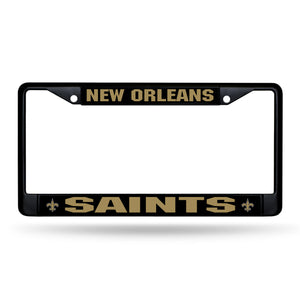 New Orleans Saints Black Chrome License Plate Frame
