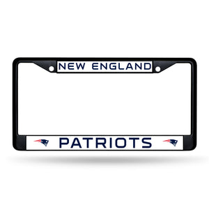 New England Patriots Black Chrome License Plate Frame