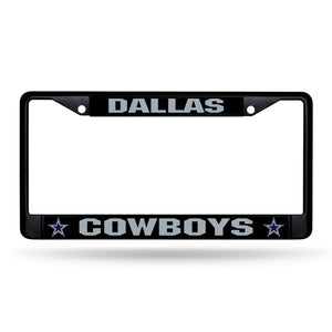 Dallas Cowboys Black Chrome License Plate Frame
