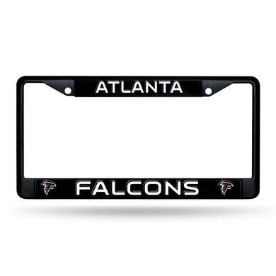 Atlanta Falcons Black Chrome License Plate Frame