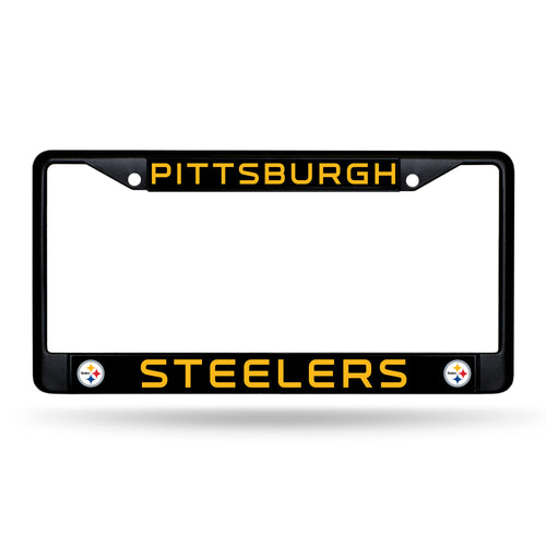 Pittsburgh Steelers Black Chrome License Plate Frame