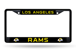 Los Angeles Rams Black Chrome License Plate Frame
