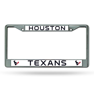 Houston Texans Chrome License Plate Frame