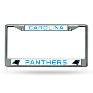 Carolina Panthers Chrome License Plate Frame