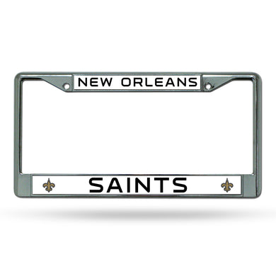 New Orleans Saints Chrome License Plate Frame