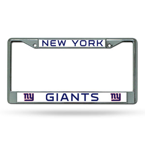 New York Giants Chrome License Plate Frame