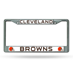 Cleveland Browns Chrome License Plate Frame