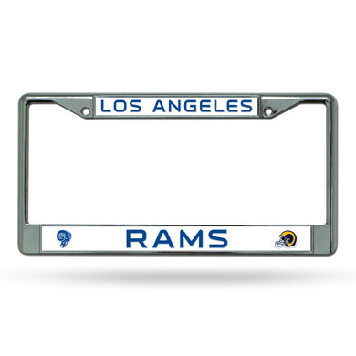 Los Angeles Rams Retro Chrome License Plate Frame