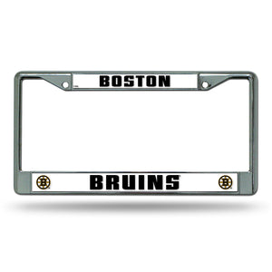 Boston Bruins Chrome License Plate Frame