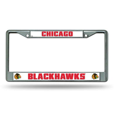 Chicago Blackhawks Chrome License Plate Frame