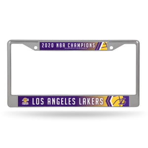 Los Angeles Lakers 2020 NBA Champs Chrome License Plate Frame
