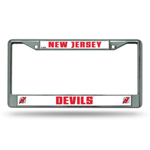 New Jersey Devils Chrome License Plate Frame