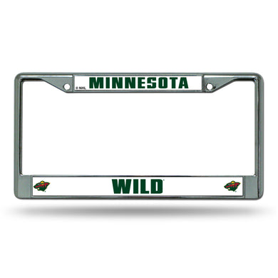 Minnesota Wild Chrome License Plate Frame