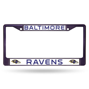 Baltimore Ravens Purple Color Chrome License Plate Frame