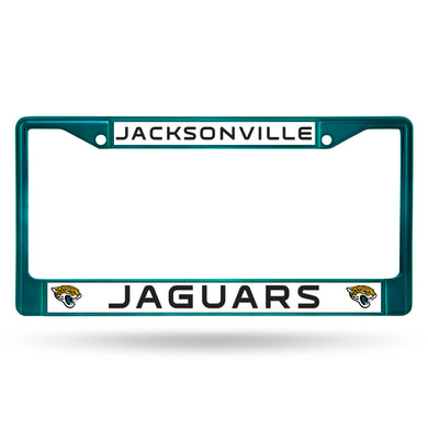 Jacksonville Jaguars Aqua Color Chrome License Plate Frame