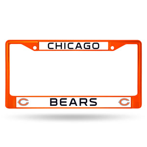 Chicago Bears Orange Color Chrome License Plate Frame