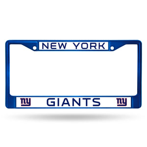 New York Giants Navy Color Chrome License Plate Frame