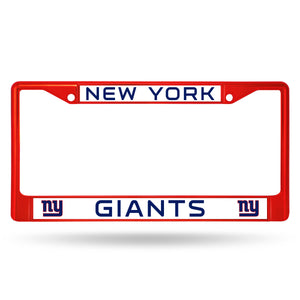 New York Giants Red Color Chrome License Plate Frame