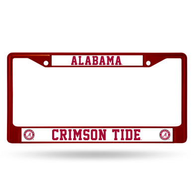 Alabama Crimson Tide Maroon Chrome License Plate Frame