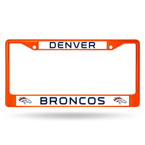 Denver Broncos Orange Color Chrome License Plate Frame