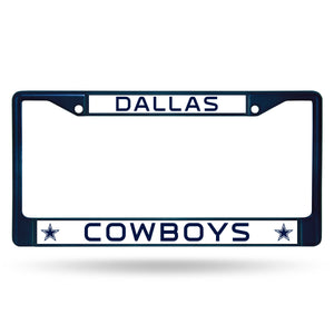 Dallas Cowboys Navy Color Chrome License Plate Frame