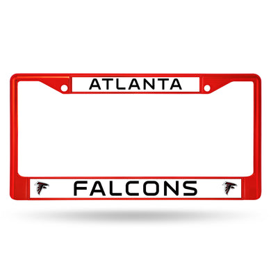 Atlanta Falcons Red Color Chrome License Plate Frame