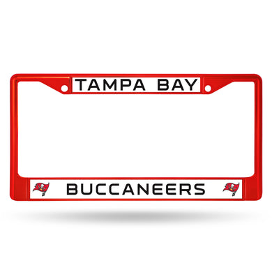Tampa Bay Buccaneers Red Color Chrome License Plate Frame