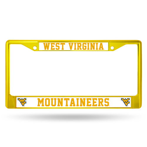 West Virginia Mountaineers Gold Chrome License Plate Frame