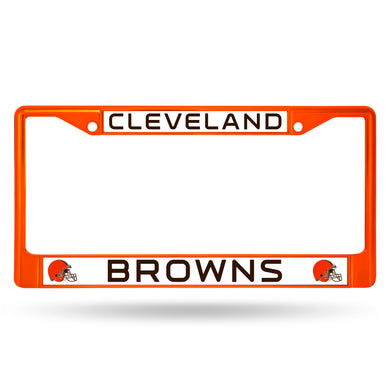 Cleveland Browns Orange Color Chrome License Plate Frame