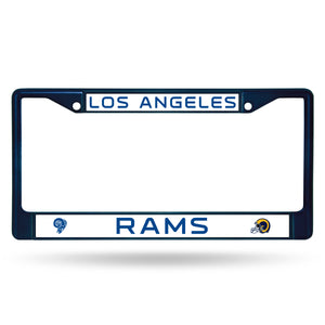 Los Angeles Rams Navy Color Chrome License Plate Frame