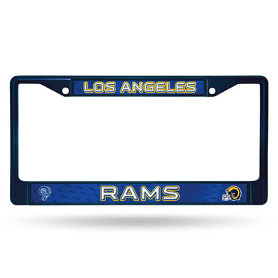 LA RAMS RETRO NAVY COLORED CHROME FRAME