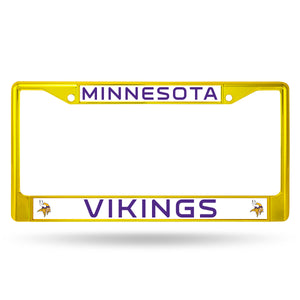Minnesota Vikings Yellow Color Chrome License Plate Frame