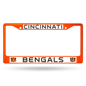 Cincinnati Bengals Orange Color Chrome License Plate Frame