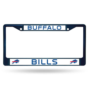 Buffalo Bills Navy Color Chrome License Plate Frame