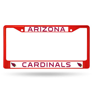 Arizona Cardinals Red Color Chrome License Plate Frame